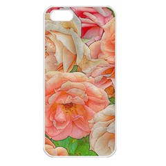 Great Garden Roses, Orange Apple Iphone 5 Seamless Case (white)