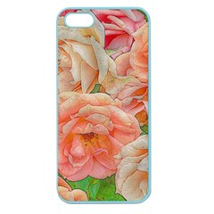 Great Garden Roses, Orange Apple Seamless Iphone 5 Case (color)