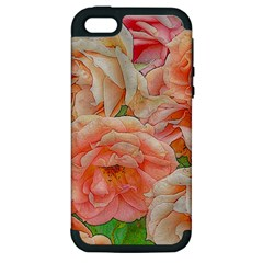 Great Garden Roses, Orange Apple Iphone 5 Hardshell Case (pc+silicone)