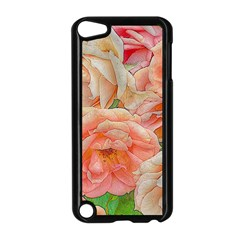 Great Garden Roses, Orange Apple Ipod Touch 5 Case (black)