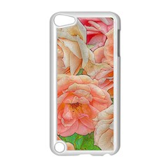 Great Garden Roses, Orange Apple Ipod Touch 5 Case (white)
