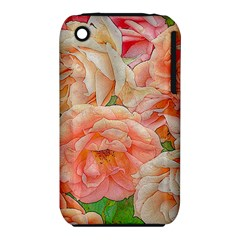 Great Garden Roses, Orange Apple Iphone 3g/3gs Hardshell Case (pc+silicone)