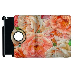 Great Garden Roses, Orange Apple Ipad 3/4 Flip 360 Case by MoreColorsinLife