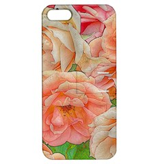 Great Garden Roses, Orange Apple Iphone 5 Hardshell Case With Stand by MoreColorsinLife