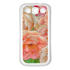 Great Garden Roses, Orange Samsung Galaxy S3 Back Case (white)