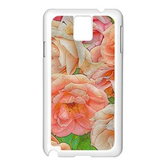 Great Garden Roses, Orange Samsung Galaxy Note 3 N9005 Case (white)