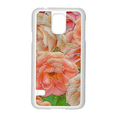 Great Garden Roses, Orange Samsung Galaxy S5 Case (White) by MoreColorsinLife