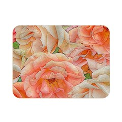 Great Garden Roses, Orange Double Sided Flano Blanket (mini)  by MoreColorsinLife