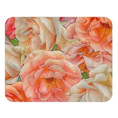 Great Garden Roses, Orange Double Sided Flano Blanket (large)  by MoreColorsinLife
