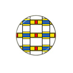 Colorful Squares And Rectangles Pattern Hat Clip Ball Marker (10 Pack)