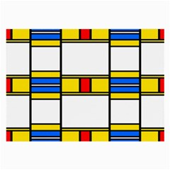 Colorful Squares And Rectangles Pattern Large Glasses Cloth (2 Sides) by LalyLauraFLM