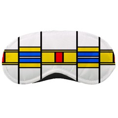 Colorful Squares And Rectangles Pattern Sleeping Mask by LalyLauraFLM