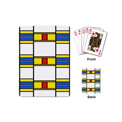 Colorful Squares And Rectangles Pattern Playing Cards (mini) by LalyLauraFLM
