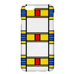 Colorful Squares And Rectangles Pattern	apple Iphone 6 Plus Hardshell Case by LalyLauraFLM