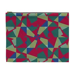 Shapes In Squares Pattern Cosmetic Bag (xl) by LalyLauraFLM