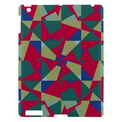 Shapes In Squares Pattern Apple Ipad 3/4 Hardshell Case by LalyLauraFLM