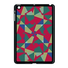 Shapes In Squares Pattern Apple Ipad Mini Case (black) by LalyLauraFLM
