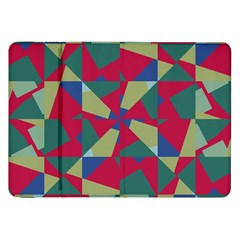 Shapes In Squares Pattern Samsung Galaxy Tab 8 9  P7300 Flip Case by LalyLauraFLM