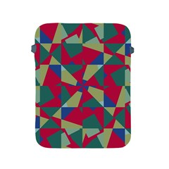 Shapes In Squares Pattern Apple Ipad 2/3/4 Protective Soft Case by LalyLauraFLM
