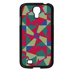 Shapes In Squares Pattern Samsung Galaxy S4 I9500/ I9505 Case (black) by LalyLauraFLM