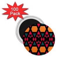 Rhombus And Other Shapes Pattern 1 75  Magnet (100 Pack)  by LalyLauraFLM