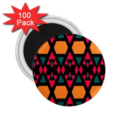 Rhombus And Other Shapes Pattern 2 25  Magnet (100 Pack)  by LalyLauraFLM