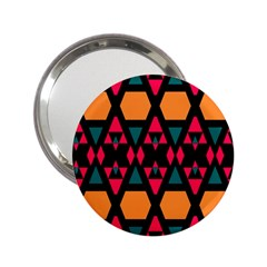 Rhombus And Other Shapes Pattern 2 25  Handbag Mirror by LalyLauraFLM