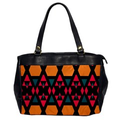 Rhombus And Other Shapes Pattern Oversize Office Handbag by LalyLauraFLM