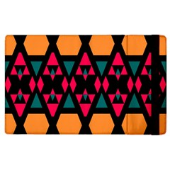 Rhombus And Other Shapes Pattern Apple Ipad 3/4 Flip Case by LalyLauraFLM