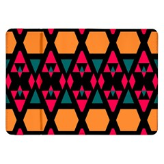 Rhombus And Other Shapes Pattern Samsung Galaxy Tab 8 9  P7300 Flip Case by LalyLauraFLM