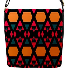 Rhombus And Other Shapes Pattern Flap Closure Messenger Bag (s) by LalyLauraFLM