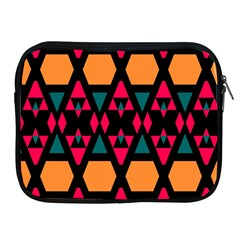 Rhombus And Other Shapes Pattern Apple Ipad 2/3/4 Zipper Case by LalyLauraFLM