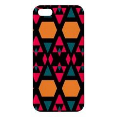 Rhombus And Other Shapes Pattern Iphone 5s Premium Hardshell Case by LalyLauraFLM