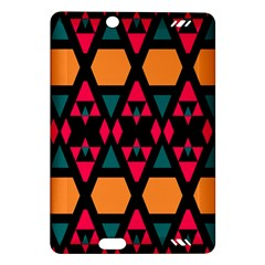 Rhombus And Other Shapes Pattern Kindle Fire Hd (2013) Hardshell Case by LalyLauraFLM