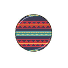 Rhombus And Waves Chains Pattern Hat Clip Ball Marker (4 Pack) by LalyLauraFLM