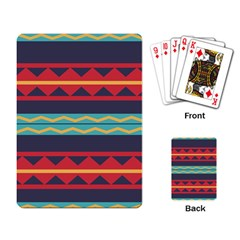Rhombus And Waves Chains Pattern Playing Cards Single Design by LalyLauraFLM