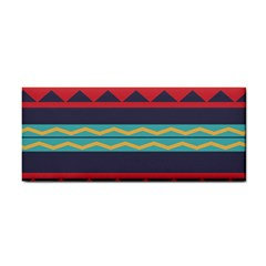 Rhombus And Waves Chains Pattern Hand Towel by LalyLauraFLM