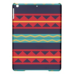 Rhombus And Waves Chains Pattern Apple Ipad Air Hardshell Case by LalyLauraFLM
