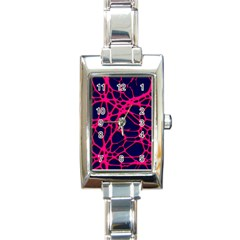 Hot Web Pink Rectangle Italian Charm Watches by ImpressiveMoments