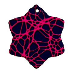 Hot Web Pink Snowflake Ornament (2 Side) by ImpressiveMoments