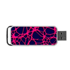 Hot Web Pink Portable Usb Flash (one Side) by ImpressiveMoments