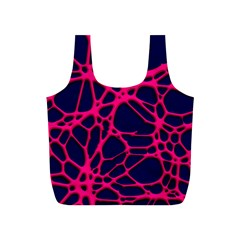 Hot Web Pink Full Print Recycle Bags (s)  by ImpressiveMoments