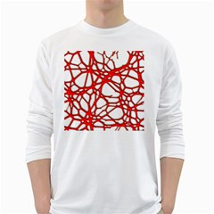 Hot Web Red White Long Sleeve T Shirts by ImpressiveMoments