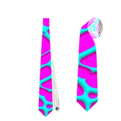 Hot Web Turqoise Pink Neckties (two Side)