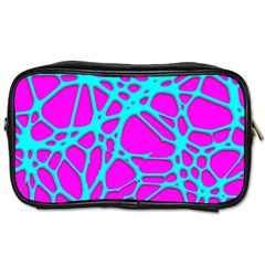 Hot Web Turqoise Pink Toiletries Bags 2 Side by ImpressiveMoments