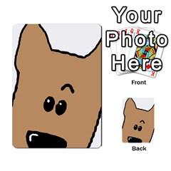 Peeping Yorkshire terrier Multi-purpose Cards (Rectangle)