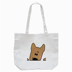 Peeping Yorkshire terrier Tote Bag (White)  by TailWags