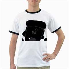 Peeping Black  Poodle Ringer T-Shirts by TailWags