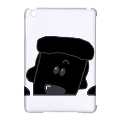 Peeping Black  Poodle Apple iPad Mini Hardshell Case (Compatible with Smart Cover) by TailWags