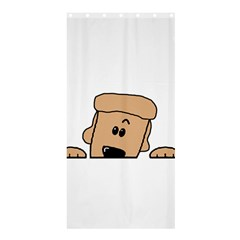 Peeping Peach Poodle Shower Curtain 36  x 72  (Stall)